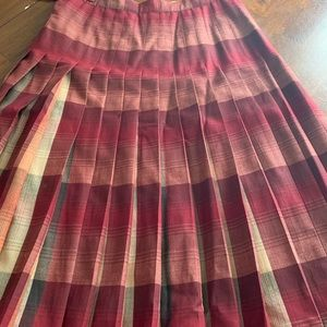 Pendleton reversible virgin wool skirt